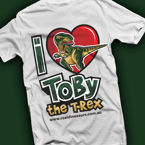 character concept for toby the t-rex