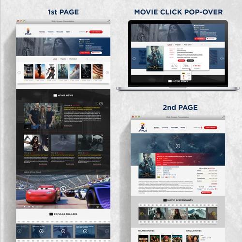 Movie rating website design