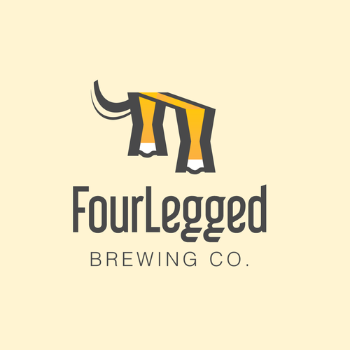 Create a iconic logo for FourLegged Brewing Co!