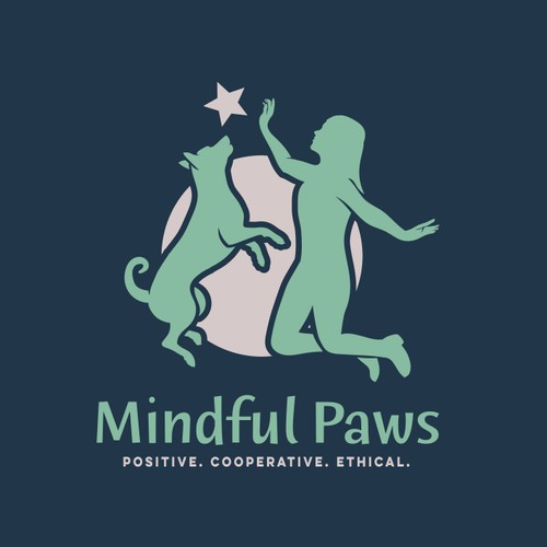 Logo concept for  positive, force-free dog training