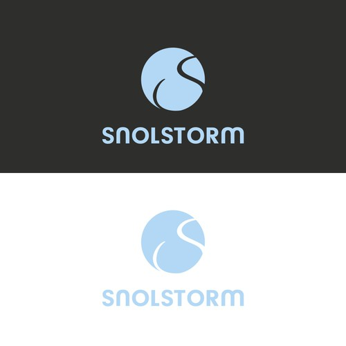SnolStorm logo design