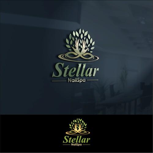 stellar nailspa simple design logo