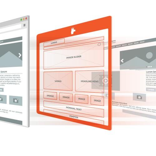 DejligLama an illustration showing the elements of a website