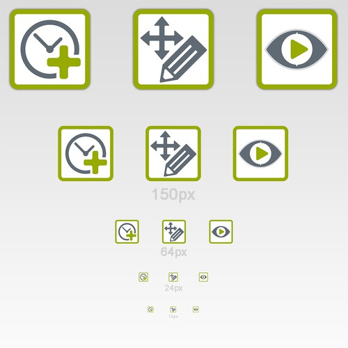 Icon design for info-terminal software