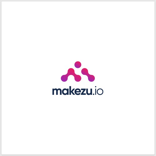 Logo Concept for makezu.io, an AI Social-Lead-Conversion Engine