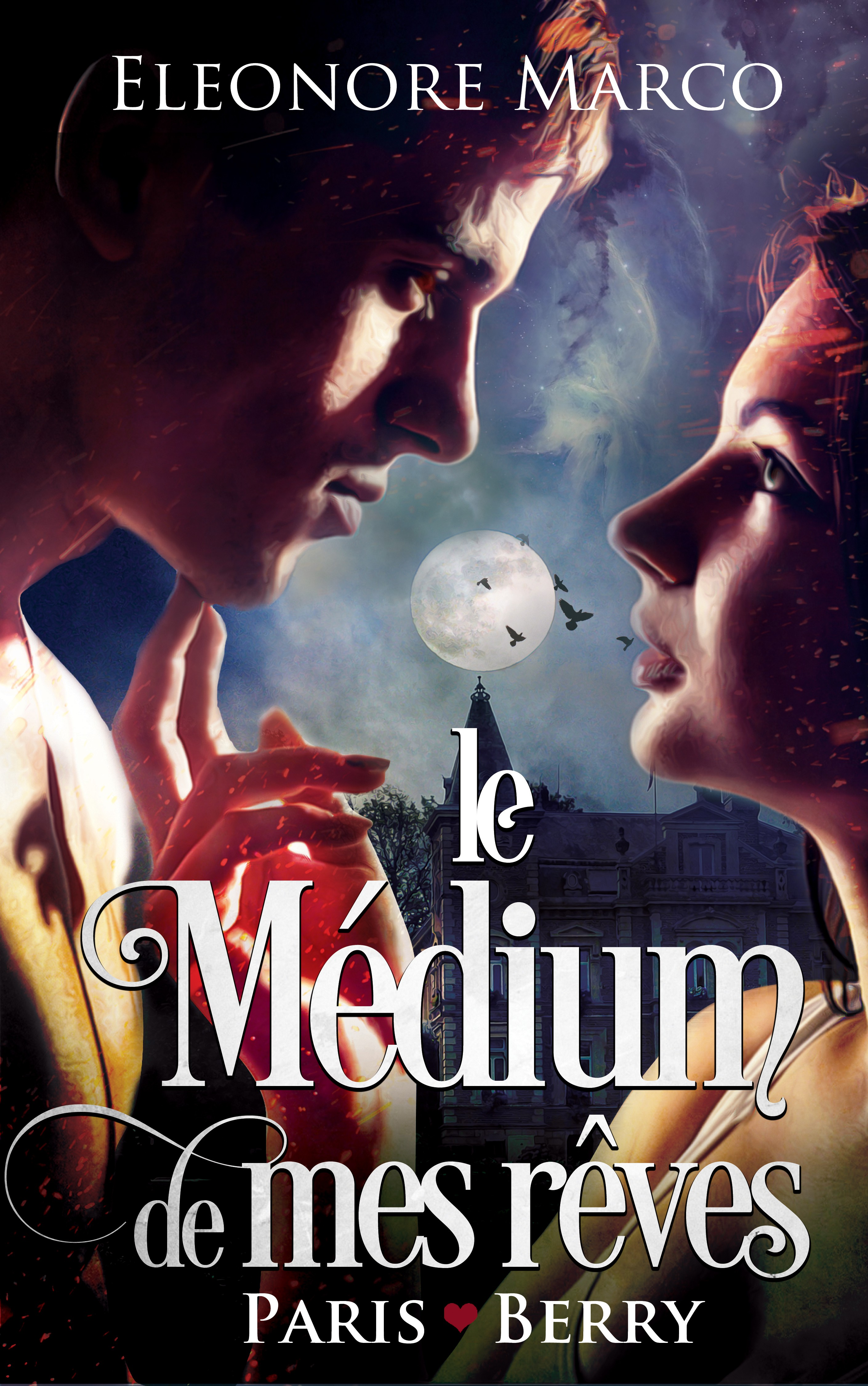 Sexy and mysterious cover for a paranormal romance : ghosts in a French castle !