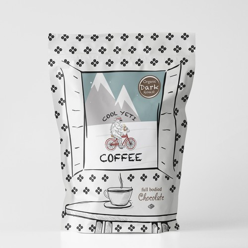 Packaging Design for a Cool Yeti and it's Coffee