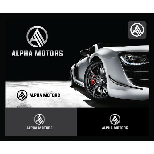lettermark logo for alpha motors dealer