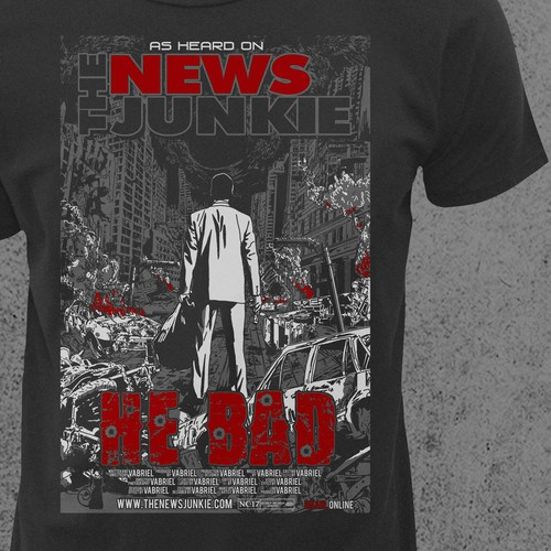 Post-Apocalyptic Movie Poster-Style T-Shirt For The News Junkie