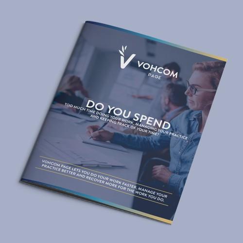 Booklet design for management software company