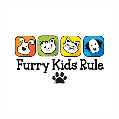 Logo concept for Furry Kids Rule