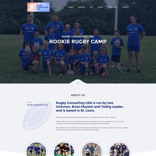 Rugby Consulting Webpage