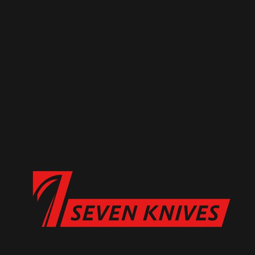 Create a modern, sharp clever illustration to appeal to everyone for Seven Knives