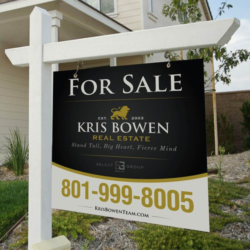 Kris Bowen Real Estate Signage