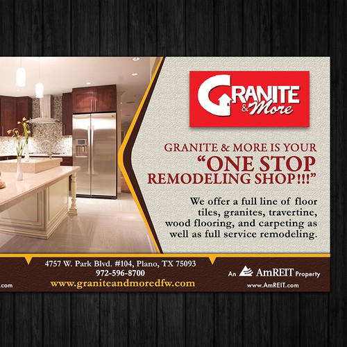 Create an ad for Granite and More