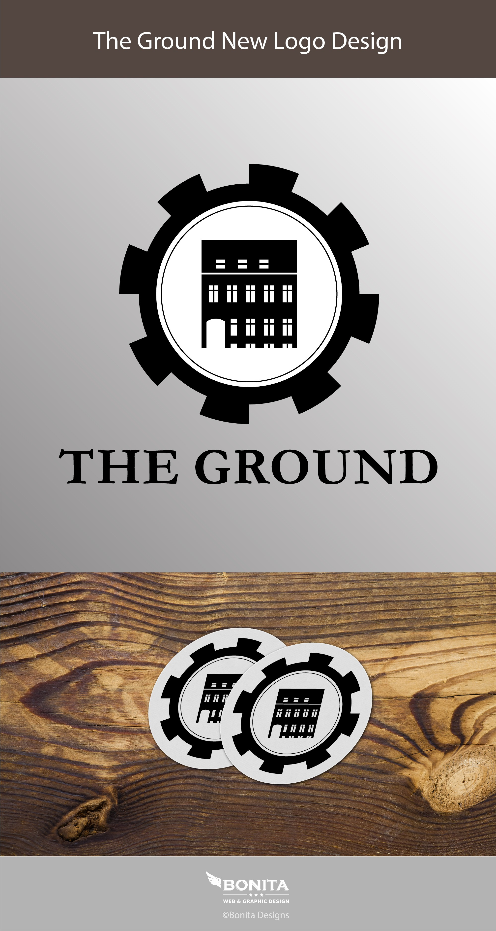 Logo for community owned startup co-working space The Ground