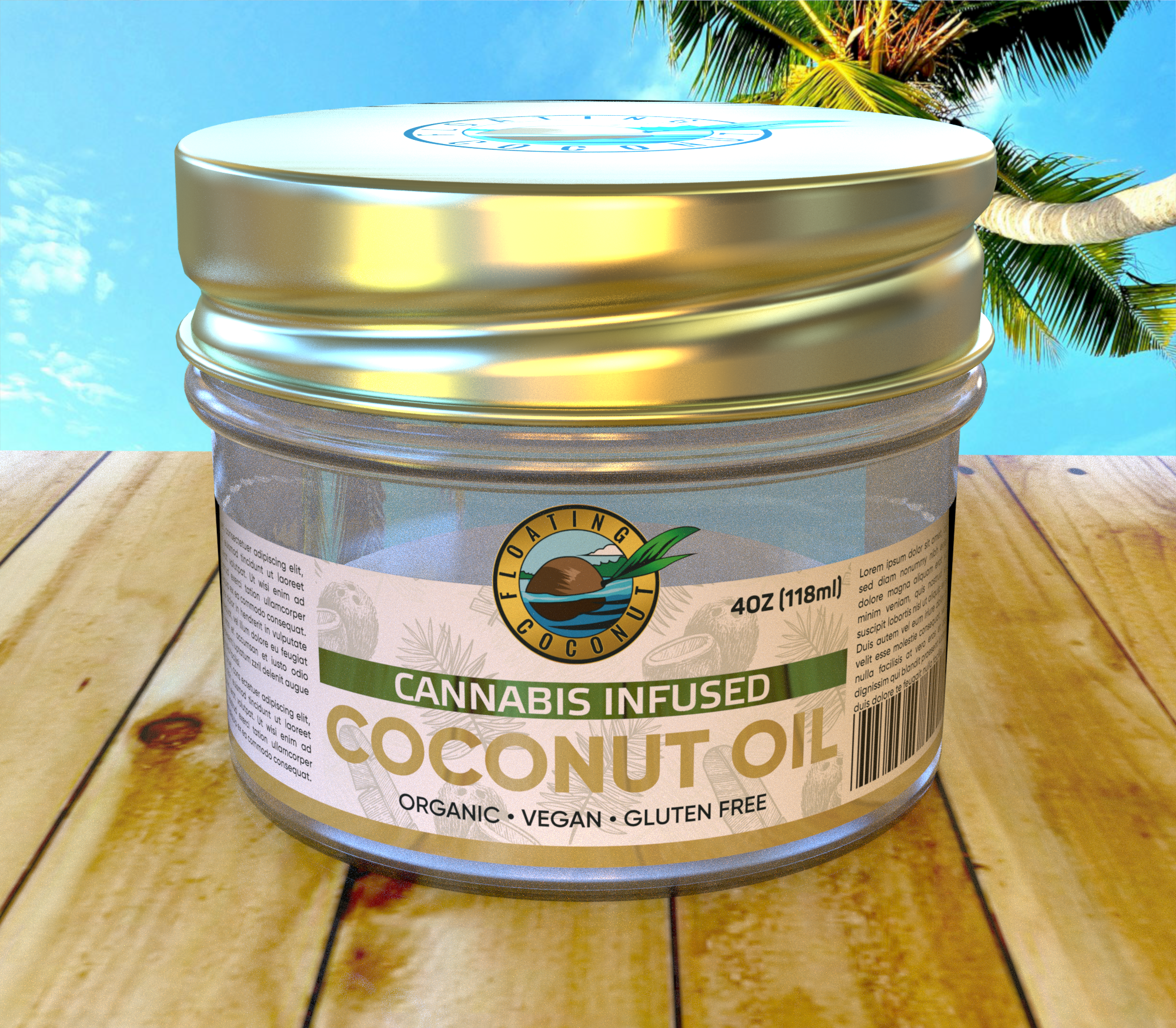 Floating Coconut Packaging Design