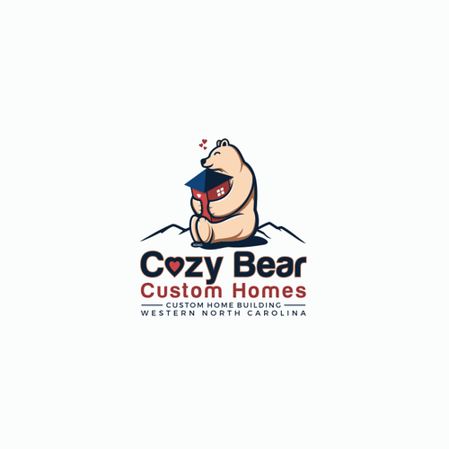 Logo design for Cozy Bear Custom Homes
