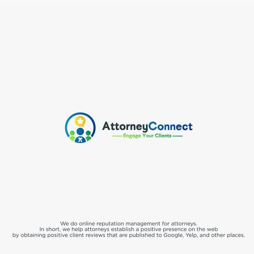 Fresh client reviews logo concept for Attorney
