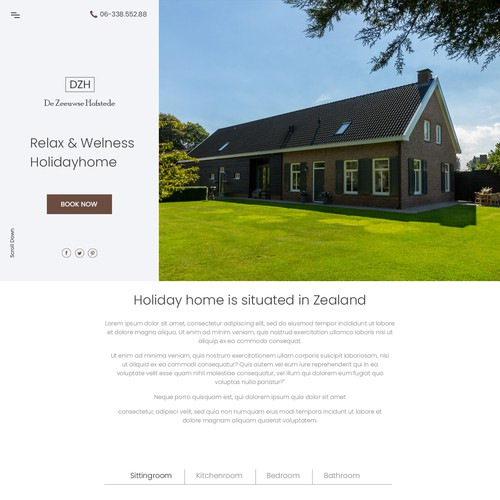 We need a new web design to offer and promote our holiday home