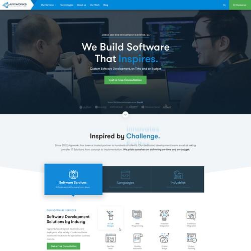 Website Design for Software Agency