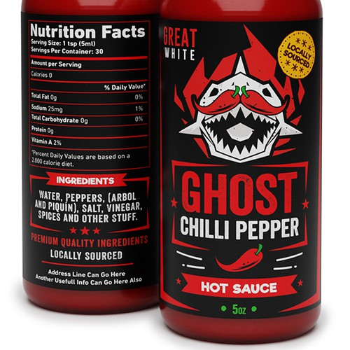 Chilli Pepper Label Design
