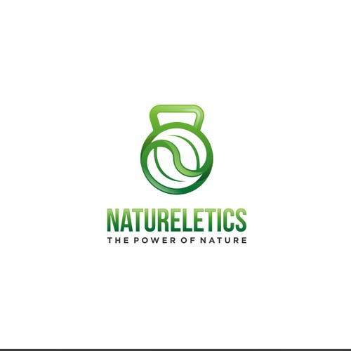 Create a Logo with muscle, strength in combination with nature