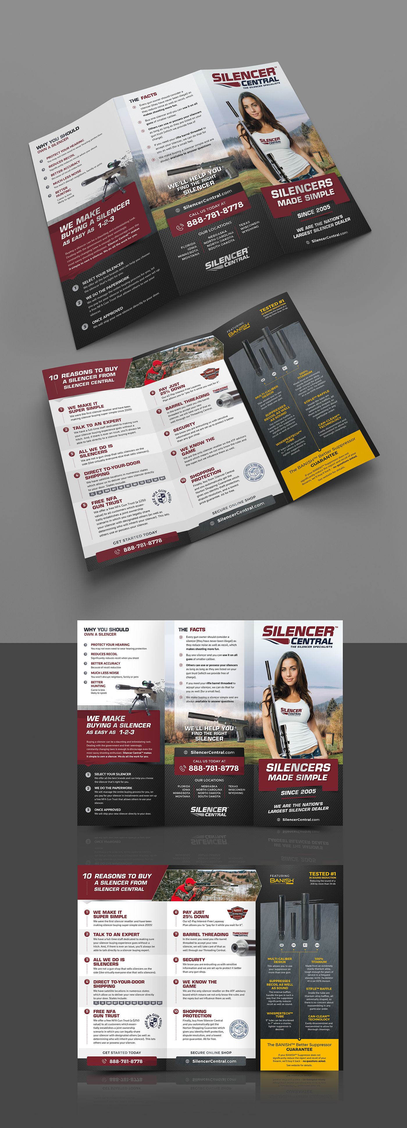 Gun Shop Needs Highly Creative & Engaging Tri-fold Brochure