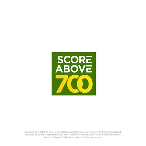 Score Above 700 logo design