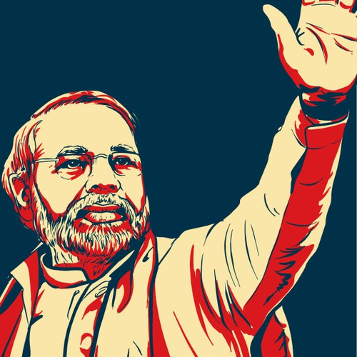 Create an iconic international political image