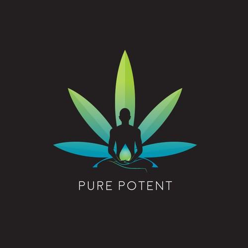 Pure Potent logo, I made for a Holistical Medicine firm.