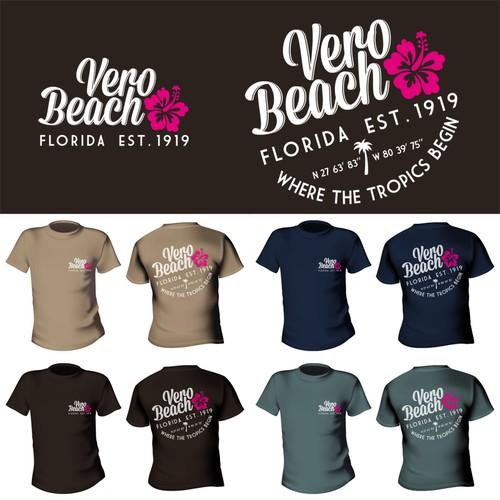 Beach-themed T-shirt design for beach town