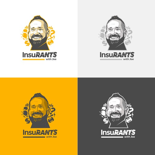 Logo for an Insurance Podcast