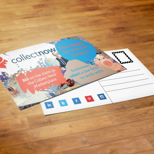 Collect Now Postcard
