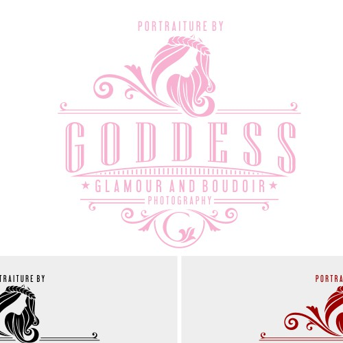 Vintage logo for GODDESS Photography