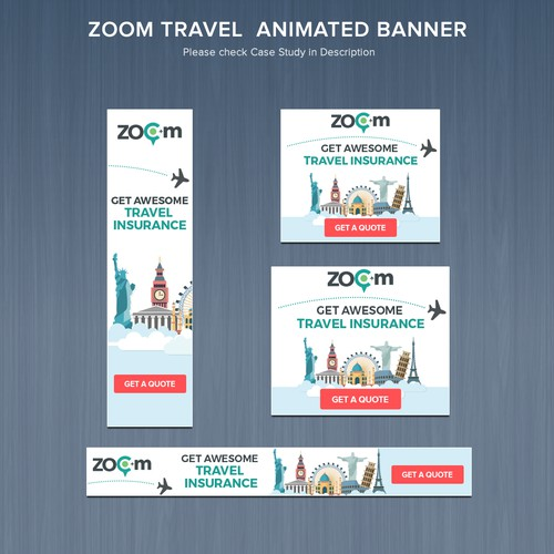 Travel Insurance HTML5 Animated Banner