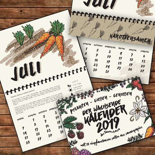 Calendar Fron Page and Page design