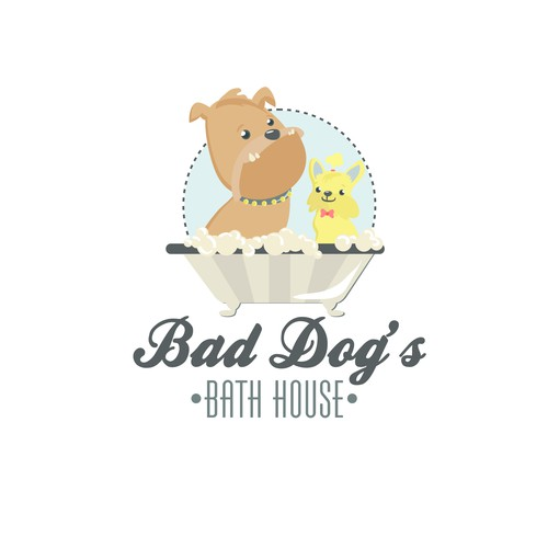 Help Bad Dog's Bath House with a new logo