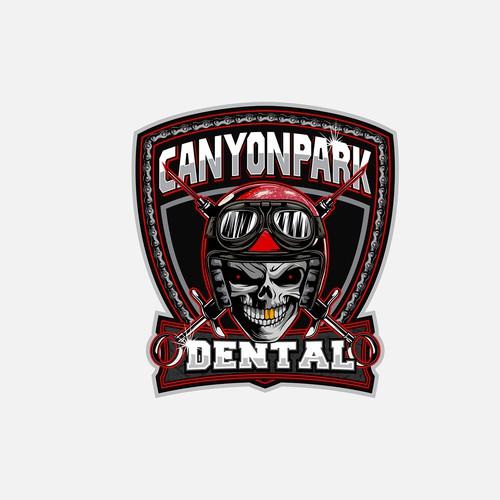 skull motorcycle dental