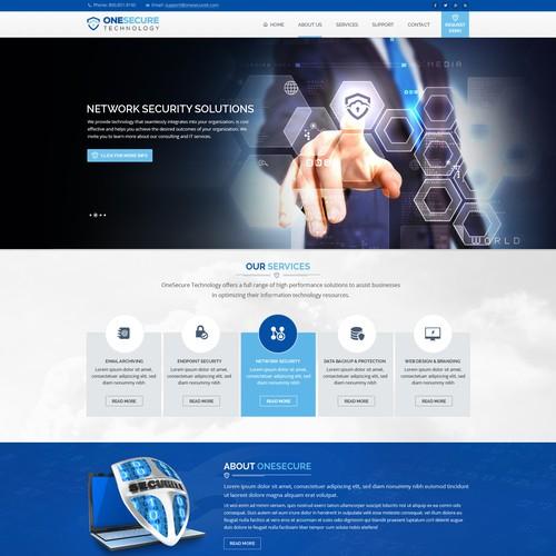 Technology Business Website Redesign WordPress