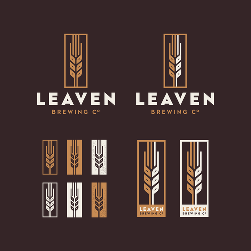 Bold logo for Leaven Brewing Co.