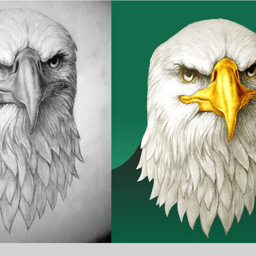 Design a Handrawn Eagles Head for our Logo