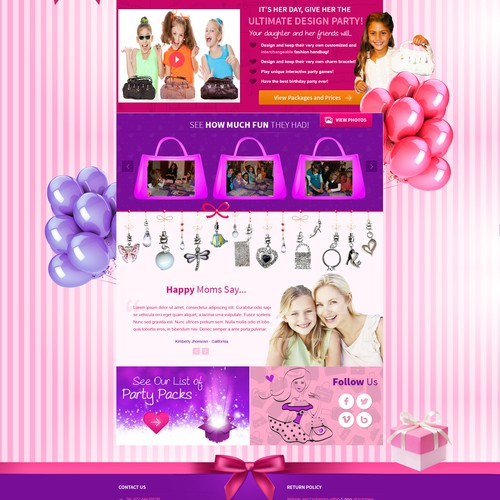 Girl's Birthday Party Site - Fun Concept - Never Before Seen Idea!