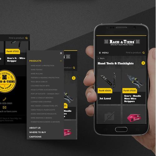 Mobile e-commerce Wordpress website
