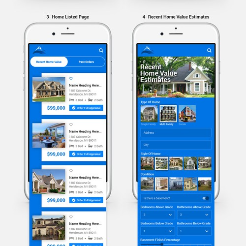 Create a SIMPLE & User Friendly App for HOME VALUE ESTIMATES