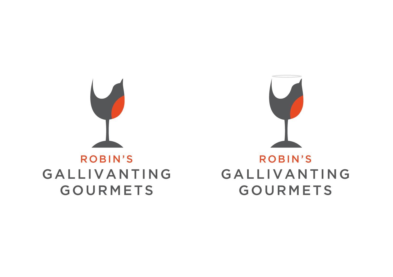 An elegant logo for food & wine travel tours
