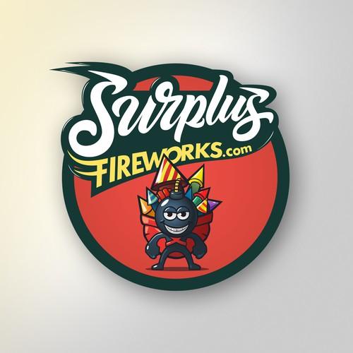 Logo design for fireworks retailer