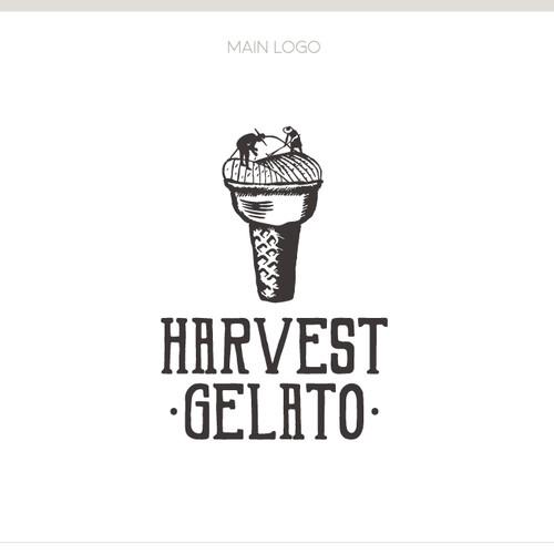 Logo design for an ice cream shop