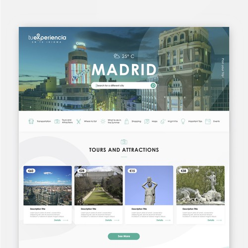 Travelling Website Design