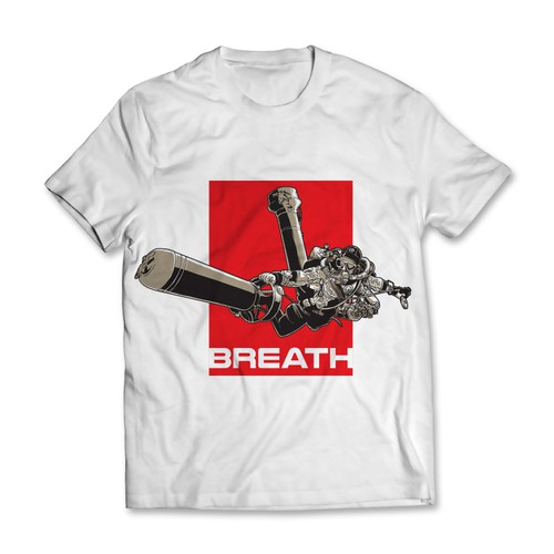Breath T-shirt Design